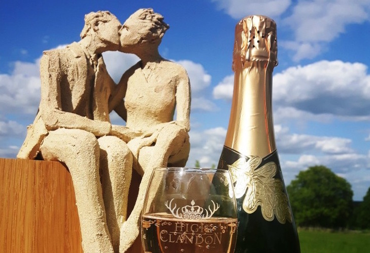 Enjoy art in the vineyard at High Clandon Estate