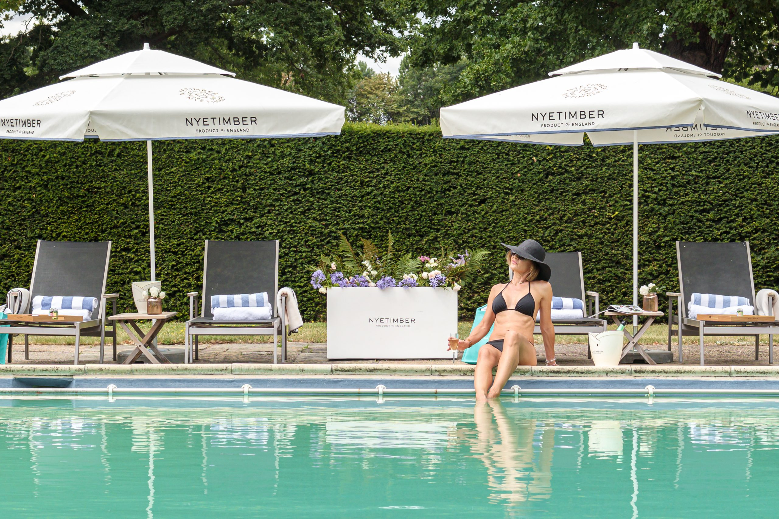 Summer by the pool with Nyetimber & Great Fosters