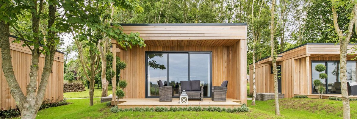 Stay at one of the three luxury lodges at Tinwood